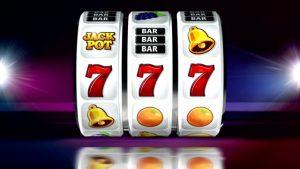 Slot Machine. Animation of Winning Lines. Gambling. Winner.